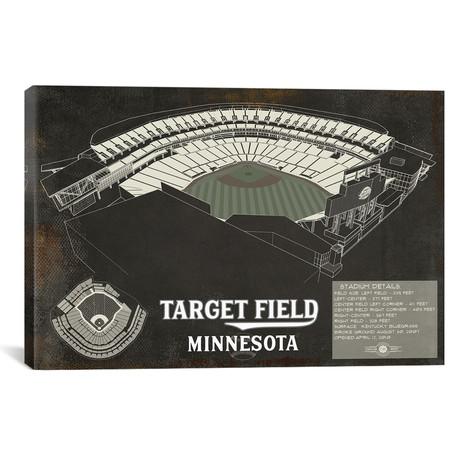 "Minnesota Target Field Rustic // Cutler West (26""W x 18""H x 0.75""D)"