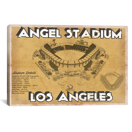 "Angel Stadium // Cutler West (26""W x 18""H x 0.75""D)"