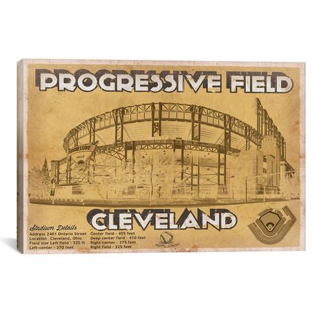 "Cleveland Progressive Field I // Cutler West (26""W x 18""H x 0.75""D)"