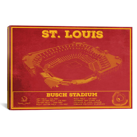 "St. Louis Busch Stadium // Cutler West (26""W x 18""H x 0.75""D)"