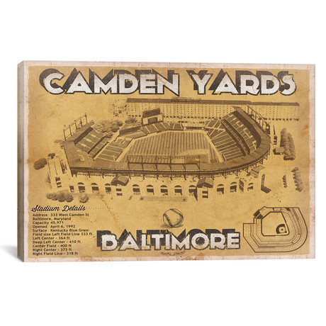 "Baltimore Camden Yards II // Cutler West (26""W x 18""H x 0.75""D)"