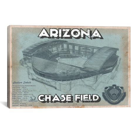 "Arizona Chase Field // Cutler West (26""W x 18""H x 0.75""D)"