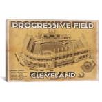 "Cleveland Progressive Field II // Cutler West (26""W x 18""H x 0.75""D)"