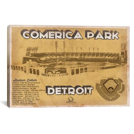 """Detroit Comerica Park II // Cutler West (26""""W x 18""""H x 0.75""""D)"""