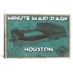 "Houston Minute Maid Park Aqua // Cutler West (26""W x 18""H x 0.75""D)"