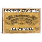 """Los Angeles Dodger Stadium Brown // Cutler West (26""""W x 18""""H x 0.75""""D)"""