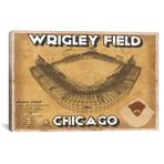 "Chicago Wrigley Field Brown // Cutler West (26""W x 18""H x 0.75""D)"