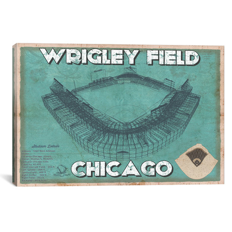 "Chicago Wrigley Field // Cutler West (26""W x 18""H x 0.75""D)"