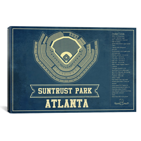 "Atlanta SunTrust Park // Cutler West (26""W x 18""H x 0.75""D)"