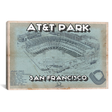 "San Francisco Giants AT&T Park // Cutler West (26""W x 18""H x 0.75""D)"