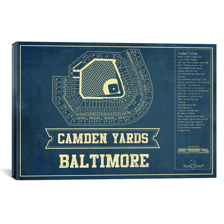 "Baltimore Camden Yards I // Cutler West (26""W x 18""H x 0.75""D)"