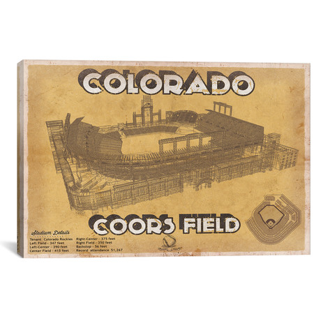 "Colorado Coors Field II // Cutler West (26""W x 18""H x 0.75""D)"