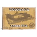 """Colorado Coors Field II // Cutler West (26""""W x 18""""H x 0.75""""D)"""
