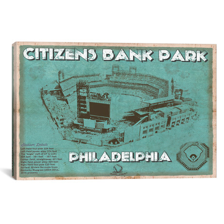 "Philadelphia Citizens Bank Park I // Cutler West (26""W x 18""H x 0.75""D)"