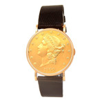 Eska Vintage $20 Gold Coin Manual Wind // Pre-Owned
