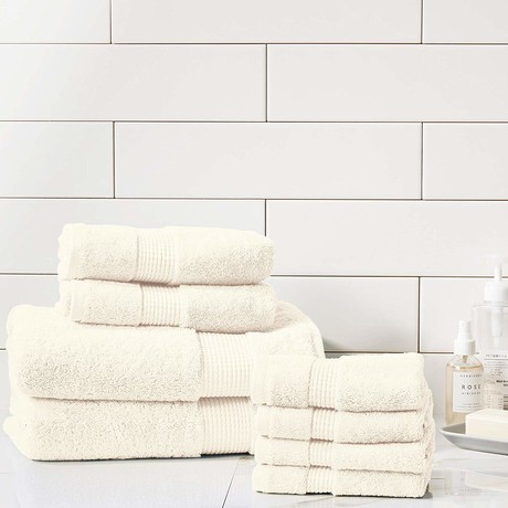 Manor Ridge Turkish Cotton 700 GSM // 8 Piece Towel Set (Ivory)