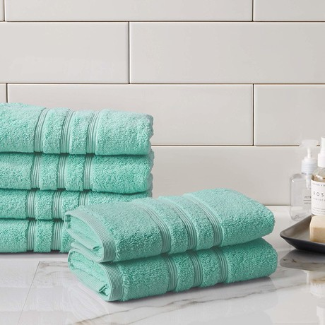 Manor Ridge Turkish Cotton 700 GSM // Hand Towels // Set of 6 (White)