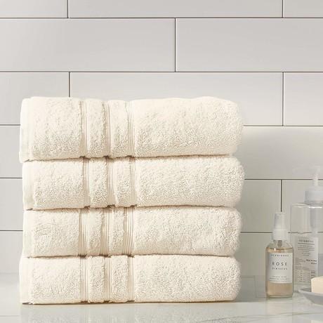 Manor Ridge Turkish Cotton 700 GSM // Bath Towel Set // Set of 4 (White)