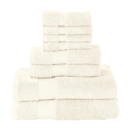Manor Ridge Turkish Cotton 700 GSM // 8 Piece Towel Set (Blue)