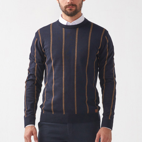 Fabian Tricot Sweater // Dark Blue (S)