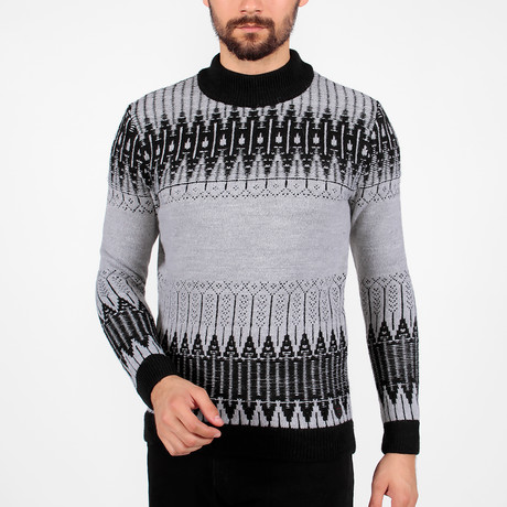 Spencer Tricot Sweater // Black + Gray (S)