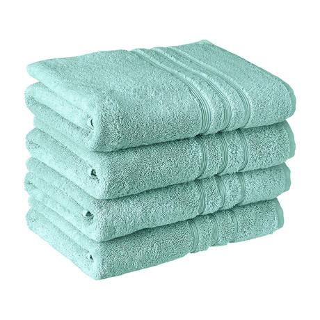 Manor Ridge Turkish Cotton 700 GSM //  Bath Towel Set // Set of 4 (Blue)