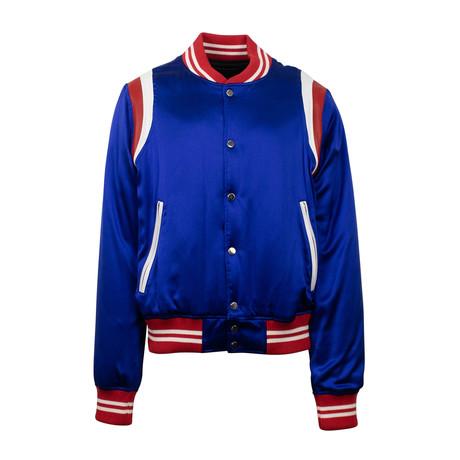 Amiri // Varsity Baseball Bomber Jacket // Blue (XS)