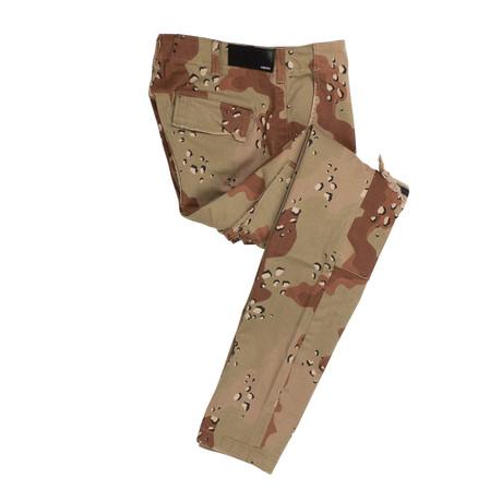 Amiri // Classic Cargo Desert Camo Distressed Pants // Brown (29)