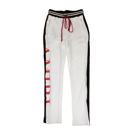 Amiri // Stripe Sweatpants // White (XS)
