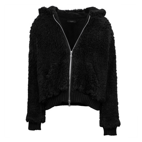 Amiri // Sherpa Zip Hoodie // Black (XS)
