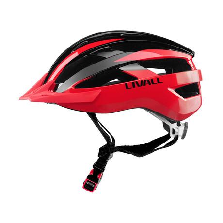 Smart Cycling Helmet // Black + Red (Medium)
