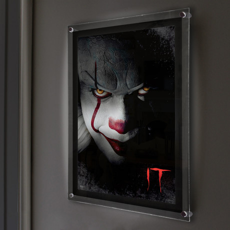 IT (Pennywise) // MightyPrint™ Wall Art // Backlit LED Frame