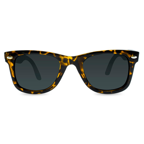 Unisex Winston Sunglasses (Black + Gray)