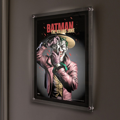 DC Batman (The Killing Joke) // MightyPrint™ Wall Art // Backlit LED Frame