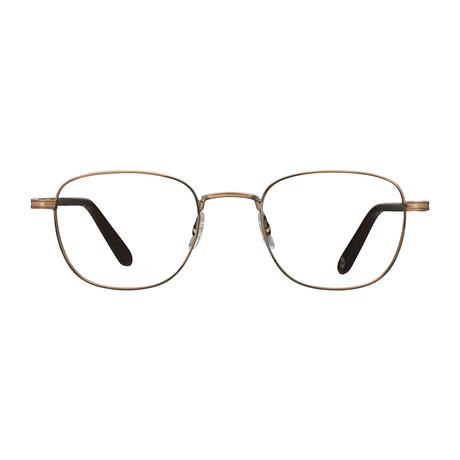 Unisex Garfield Optical Frames // Antique Gold Hazel