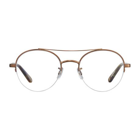 Unisex Manchester Optical Frames // Brushed Gold + Tortoise