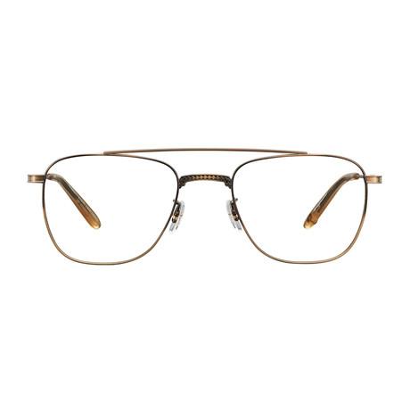 Unisex Riviera Optical Frames // Brushed Gold + Blonde