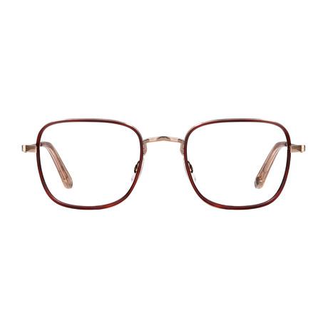 Unisex Preston Optical Frames // Brick Rose + Gold Nude
