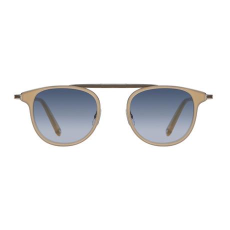 Unisex Van Buren Combo Sunglasses // Bone Silver + Navy Gradient