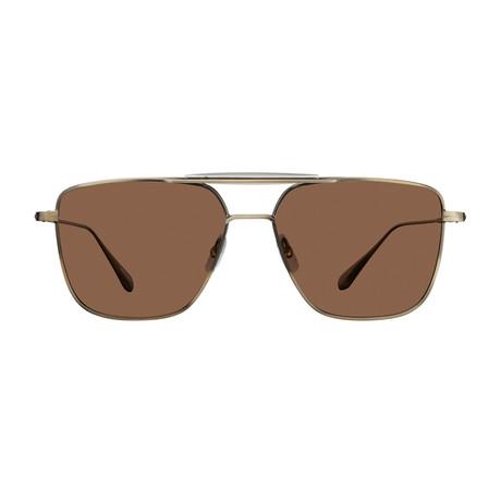 Unisex Convoy Sunglasses // Brushed Gold Champagne