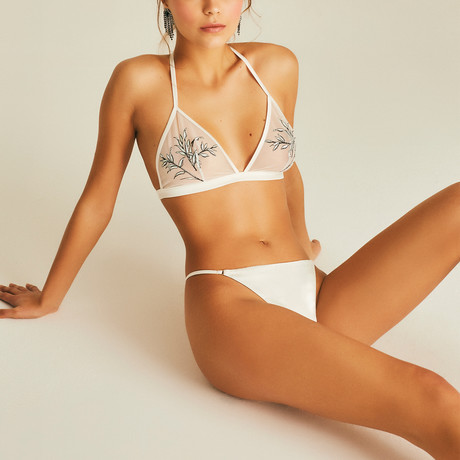 Lonicera Flower Bra Top // White (XS)