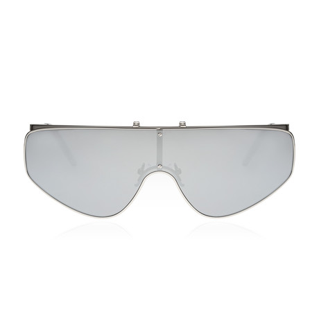 Cyber Racer Sunglasses // Silver