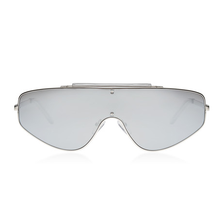 Space Racer Sunglasses // Silver