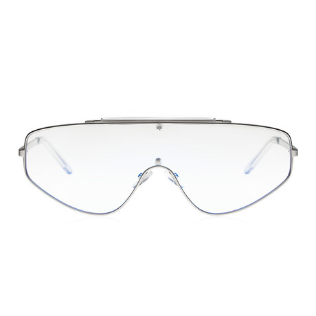 Space Racer Sunglasses // Blue Light Filter // Silver