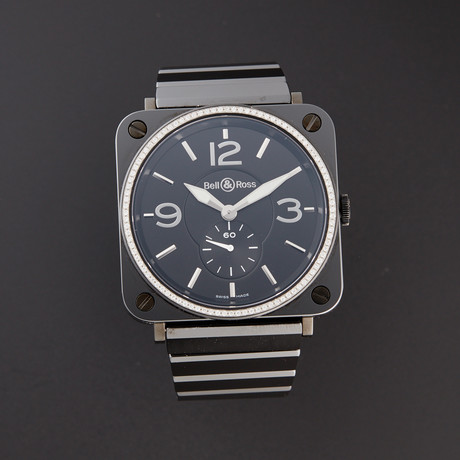 Bell & Ross Ladies BRS Quartz // BRS-BLK-CER-DIA // Pre-Owned