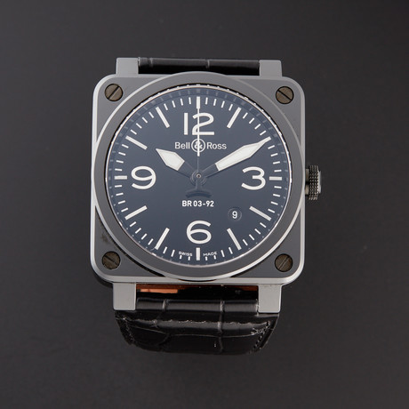 Bell & Ross Automatic // BR0392-CER-BLP/SCR // Pre-Owned