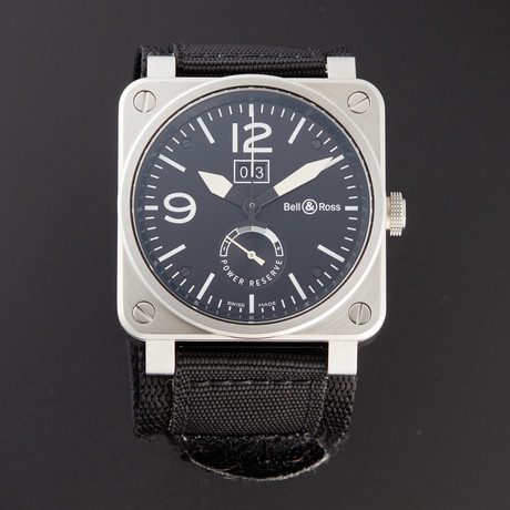 Bell & Ross Grande Date Reserve De Marche Automatic // BR03-90-BL-ST // Pre-Owned