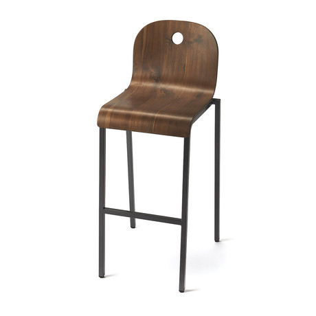 Valkyrie Walnut Bar Stool