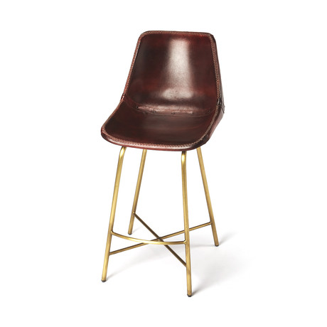 Rowan Leather Bar Stool