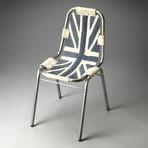 Union Jack Denim Side Chair